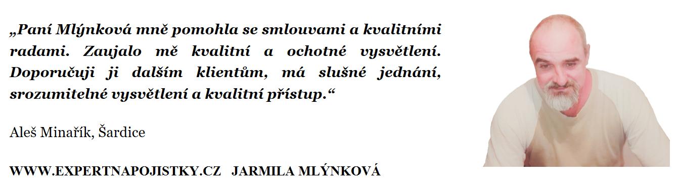 Paní Mlýnková mně pomohla se smlouvami a kvalitními radami. Zaujalo mě kvalitní a ochotné vysvětlení. Doporučuji ji dalším klientům, má slušné jednání, srozumitelné vysvětlení a kvalitní přístup