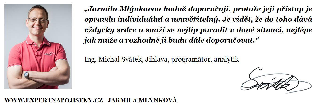 Jarmilu Mlýnkovou hodně doporučuji, protože její přístup je opravdu individuální a neuvěřitelný. Je vidět, že do toho dává vždycky srdce a snaží se nejlíp poradit v dané situaci, nejlépe jak může a rozhodně ji budu dále doporučovat
